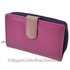 NEW Leather Tabbed Medium PURSE/WALLET by Golunski Gift Travel Handy Credit Card