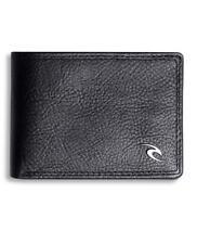 Rip Curl CLIP WAVE RFID SLIM WALLET Mens LEATHER Wallet New - BWLJT1 Black