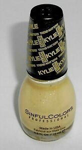 SINFUL COLORS Nail Color Polish Kylie Trend Matters Collection BUTTER KUP 2068