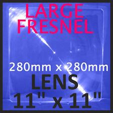 """GRANDE RIGIDO Acrilico Fresnel Lente SOLARE Ingrandimento Forno fornello 11""""x11"""" 280x280mm"""