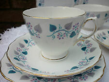 Royal Vale Tea Set Teal Ivy Vine on White Serves 4