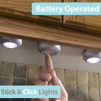 Stick N click lights BATT OPERATED caravan interior lights spares 2 3 4 5 berth