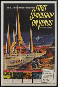 First spaceship on Venus Sci-fi movie poster print