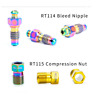 RISK Bicycle Titanium Screws Bolts F Bike Oil Disc Brake Clamp Caliper Oil Tube
