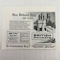 British Railways Vtg 1953 Print Ad