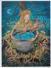 PAGAN WICCAN GREETING CARDS Re-Birth GODDESS Crone HARE CELTIC WENDY ANDREW