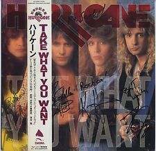 Hurricane - Take What You Want JAPAN AUTOGRAPHED PROMO LP with OBI, NM VINYL