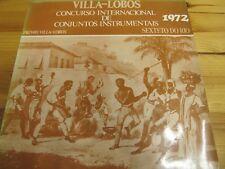 """MVL007 BRAZIL 12"""" SEXTETO DO RIO - PRÉMIO VILLA LOBOS CUNCURSO INTERNACIONAL EX-"""