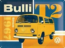 VW T2 Bulli 60's 70's Volkswagen Camper Van Garage Large 3D Metal Embossed Sign