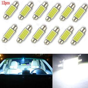 12PCS Vogue 36mm LED Dome Car Map Roof Dome Reading Light Bulb White DC 12V