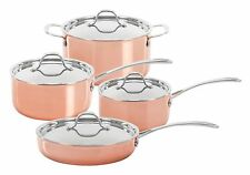 CONCORD 8 PC Premium Triply Natural Copper Cookware Set Dutch Oven Frying Pan