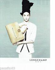 PUBLICITE ADVERTISING 116  2010  le sac Gatsby  par Longchamp