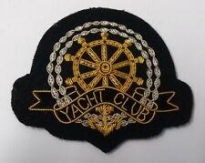 More details for genuine british made yacht club gold & silver wire braided blazer badge asps299