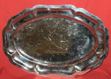 Vintage Metal Ornate Serving Tray