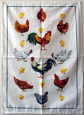 Tea Towel - Chooks and Chickens - 100% Cotton
