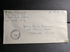 USS LST-278 Naval Cover Censored WWII Sailor's Mail
