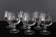 6 verres à cognac cristal d'Arques modèle Epi fleury