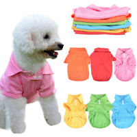 Cute Puppy Dog T-Shirts Soft Pet Vest Clothes Outfit Apparel Coats Button Tops