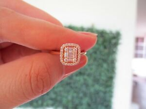 4.00 Carat Face Illusion Diamond Ring 18k Rose Gold JS46R sep (PRE-ORDER)