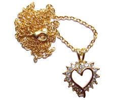 Cadeau St Valentin - Collier Coeur strass Faberge style - Cadeau St Valentin