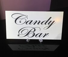WEDDING CANDY BAR PLAQUE LOVE IS SWEET TREAT GIFT BOOK TABLE SIGN *FREE STAND*