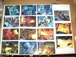 1994 ALIENS PREDATOR UNIVERSE OPERATIONS ALIENS SUBSET INSERT 15 CARD SET!