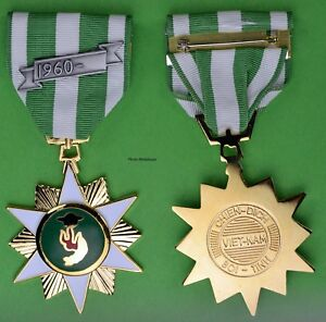South Vietnam Campaign Medal - MADE IN USA full size - VCM Domed