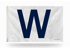 New listing Chicago Cubs Official 3' x 5' Banner W Flag - Mlb