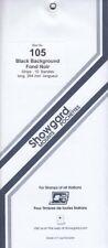 Showgard Stamp Mount Strips For UK Blocks, Covers, etc 105mm Black 1 Pack New
