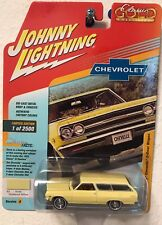 2018 JOHNNY LIGHTNING 1:64 CLASSIC GOLD 1965 CHEVELLE STATION WAGON Yellow