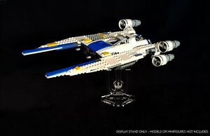 Display stand angled for Lego 75155 Rebel U-Wing Fighter ( Star Wars)