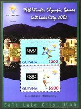 T368 GUYANA 2002 Winter Olympic Games, Salt Lake City MiniSheet Mint NH