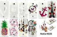 New Transparent Soft TPU Silicone Back Case Cover For Microsoft Nokia Lumia 535