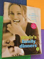 GIADA DE LAURENTIIS COOKBOOK FAMILY DINNERS Italian HARDBACK/DJ italy recipes