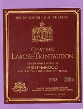 HAUT MEDOC CRU BOURGEOIS ETIQUETTE CHATEAU LAROSE TRINTAUDON 1982 3000 ML§18/01§