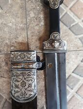 Rare Antique SILVER Russian Empire Georgian Dagger Dirk Kinjal  BEBUT blade!!