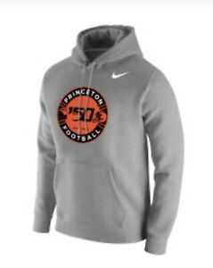 Princeton Nike 150th Anniversary Football Mens Hoodie Fleece Gray S $70