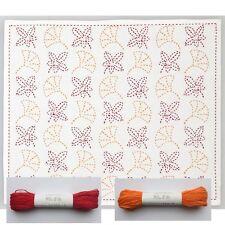 Japanese Embroidery  SASHIKO Kit HOBBYRA HOBBYRE MOMIJI with tread 2color