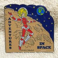2017 Adventures in Space Pin National Barbie Doll Convention Mattel Adult Size