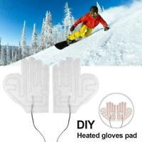 Gloves Heating Pad Waterproof Warm Heated Sheet A7E5 H7Z1