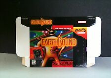 """Earthbound SNES """"For Display Only"""" Demo Box - NO GAME Display Stained Box"""