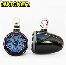 "Black Angle Free Wakeboard Speaker Kicker Km654Lcw Led 6.5"" Marine Speaker"