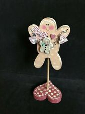 "Crazy Mountain Designs Gingerbread Mom & Child~Wood~10.5"" High~1997~Cute!"