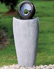 Brema Wasserspiel Polyresian mit 6 LEDs Höhe: 86cm,Gartenbrunnen,*NEU & OVP *
