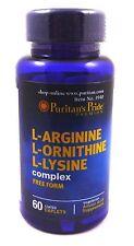 L-Arginine L-Ornithine L-Lysine 60 Caplets Tri-Amino Supplement