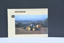 John Deere 2850 farm tractor sales brochure with 16 pages from 1986