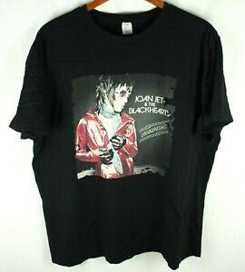 Joan Jett and the Blackhearts Unvarnished Black T-Shirt Size 2XL
