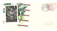 Australia 1989 MACCHINETTA etichetta di spedizione Frama 43c KOALA Primo giorno di copertura