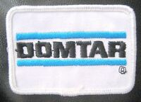 """DOMTAR EMBROIDERED PATCH PAPER PRODUCTS ADVERTISING UNIFORM BADGE 3"""" x 2"""""""