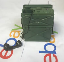 Vintage GI Joe Communications Green Field Phone Radio w/ Antenna Unmarked